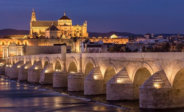 El Puente de Córdoba de noche