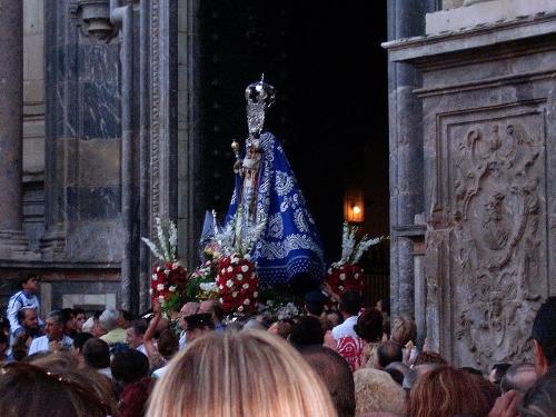 La Virgen de la Fuensanta durante la Velá de la Fuensanta